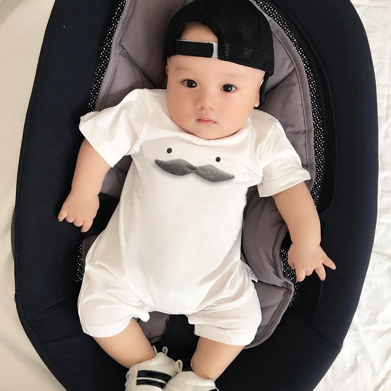 婴儿连体衣服宝宝新生儿哈衣0装3个月薄款新生儿潮款外出服 发货周期:一般在付款后2-90天左右发货,具体发货时间请以与客服协商的时间为准