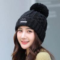 女帽韩版百搭甜美可爱毛线帽保暖护耳针织帽学生日系帽子