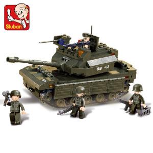 【当当自营】小鲁班陆军部队军事系列儿童益智拼装积木玩具 主战坦克M38-B6500