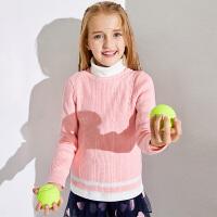【2件3折到手价:76.5】小猪班纳童装女童毛衣2019冬季新款儿童针织衫中大童纯色韩版上衣