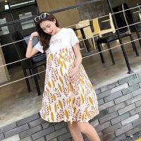 孕妇装夏装2018新款韩版宽松孕妇连衣裙中长款时尚裙子潮妈娃娃裙