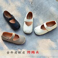 女童单鞋儿童软牛皮休闲公主鞋2020皮鞋软底黑皮鞋