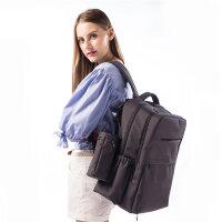 兰多 商务型双肩包多功能时尚妈咪包双肩包外出包可挂童车电脑包