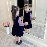 秋冬装儿童韩版加厚超洋气公主裙冬裙套装裙子女童连衣裙