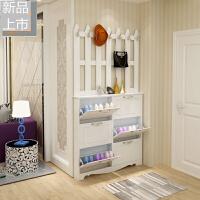 玄关鞋柜 简约现代 门厅柜小户型玄关衣帽柜 鞋柜挂衣架组合定制 组装