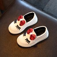 女童鞋春秋季板鞋中小童宝宝小白鞋女孩休闲鞋儿童运动鞋