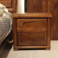全实木床头柜 木质床头柜储物柜子 现代中式家具 新款特价