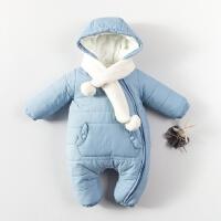 20180427025914736男婴儿连体衣服加厚新生儿宝宝外出冬季6新年冬装3套装棉衣0个月1