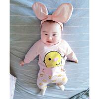婴儿童装套装春宝宝春季0岁6个月春装童潮款卫衣服潮婴幼儿