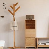 实木衣架 创意 卧室内落地原木挂衣架 会动的枝桠