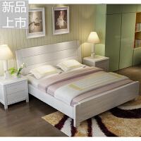 现代简约实木床白色橡木1.8米双人床1.5m1.2单人床1.35主卧家具定制