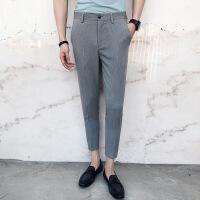 小码男装矮个子26 27码春夏新款英伦修身时尚潮流百搭九分休闲裤