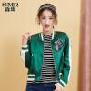 森马夹克外套女秋新款韩版运动棒球服立领短款上衣学生刺绣