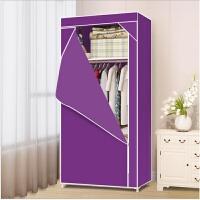 实木衣柜2门推拉门简约现代经济型组装大衣橱简易租房移门大衣柜 小柜子 2门