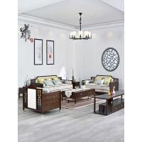 新中式实木沙发布艺组合简约现代酒店样板房客厅禅意家具定制直销 其他