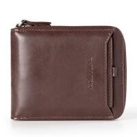 新款钱包男士短款韩版个性复古青年学生拉链钱夹多功能驾驶证皮夹