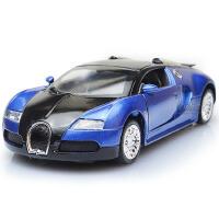 1:36合金车布加迪仿真声光回力开门车模型儿童玩具车