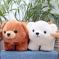 女孩礼物小熊玩偶北极熊毛绒玩具趴趴抱抱熊娃娃公仔可爱抱枕