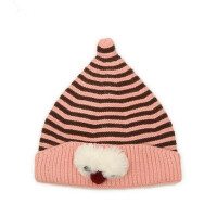 户外保暖帽毛线帽儿童针织护耳韩版男女童尖尖套头帽护耳帽