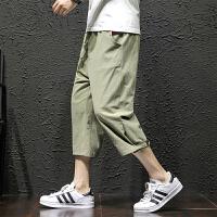 棉麻短裤男士七分裤夏季宽松7分六分五分裤子薄款潮流休闲裤