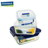 三光云彩/ GlassLock乐扣玻璃保鲜盒密封便当盒3件套装GL57