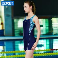 洲克新品专业成人达标赛泳衣Zoke洲克
