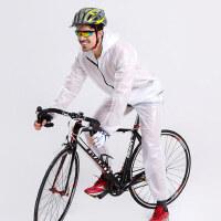 户外时尚旅行雨衣运动跑步服 分体雨披雨裤套装女 男款山地自行车骑行雨衣风衣