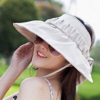 韩版遮阳帽女太阳帽折叠电动车骑车遮面防紫外线防晒帽帽子女