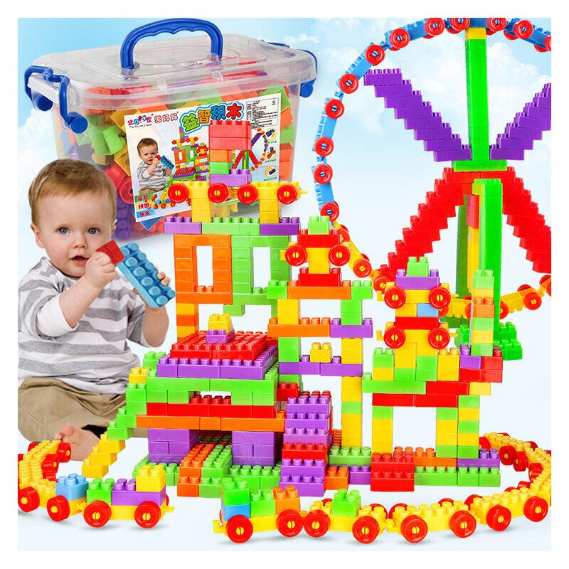 【限时抢】儿童大号颗粒塑料积木益智早教拼装插积木 玩具儿童益智玩具 【现在已停止发货,2月1日恢复发货】