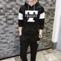 卫衣套装春季男士连帽运动韩版修身休闲运动套装青少年晨跑两件套A1509男款