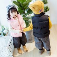 儿童棉马甲冬季韩版宝宝背心女童保暖加厚男童马夹秋冬款小童外穿