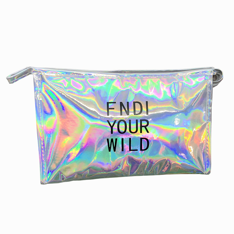 新款镭射透明化妆包小号女可爱旅行防水洗漱包便携收纳大容量 大号