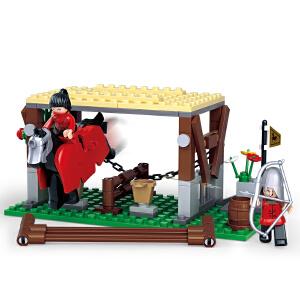 【当当自营】小鲁班刺客传奇系列儿童益智拼装积木玩具 帝国军用马厩M38-B0611