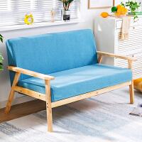 小户型橡胶木布艺沙发宜家家居客厅沙发单人双三人旗舰家具