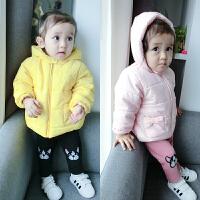 婴儿衣服装0岁3个月男女宝宝加绒加厚上衣新生儿冬季外套