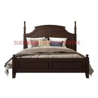 美式床实木床双人床美式家具高箱储物床1.8米床主卧美式实木床 箱框结构 6101全实木床