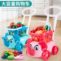 �和��^家家玩具套�b����玩具手推�男孩女孩大�超市�物�切水果