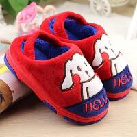 冬季可爱卡通棉拖鞋 男童女童1-2-3岁幼儿居家鞋宝宝包跟棉鞋