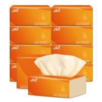 缘点本色抽纸10包240张纸巾整箱批发本色卫生纸家用餐巾纸抽面巾纸实惠家庭装