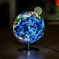 【推荐款】得力地球仪台灯LED星座地球仪万向地球仪带支架教学 直径23cm 夜视台灯包邮