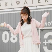 卫衣 女士拼接长袖连帽衫2020秋季新款韩版时尚女式修身洋气卫衣女装开衫