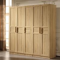 现代简约板式整体木质衣柜组装经济型家具四五门柜子卧室组合立柜 6门 组装