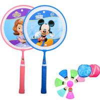 儿童羽毛球拍 双拍3-6-12岁小学生幼儿园宝宝球 +跳绳)