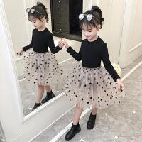 秋冬韩版公主裙洋气儿童裙子冬装女童加绒连衣裙
