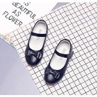 女童皮鞋黑色公主鞋春秋中大童演出鞋儿童单鞋