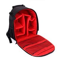 相机包双肩包多功能单反包男女户外微单佳能尼康户外摄影背包 款一红色 送防雨罩