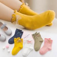 儿童袜子秋冬女女童花边公主袜1-3-5-7-9岁可爱日系小孩袜子