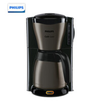 飞利浦(PHILIPS)咖啡机 家用滴漏式美式咖啡壶钛黑合金机身配保温壶 HD7547/80