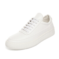 CUM 学生百搭小白鞋男士青年厚底增高运动休闲鞋板鞋潮流男鞋