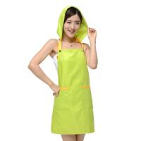 糖果色防尘防油护发围裙--绿色